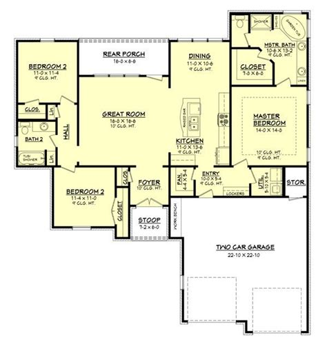 1600 Square Foot Ranch House Plans 1600 square 3 bedrooms 2 batrooms 2 parking space