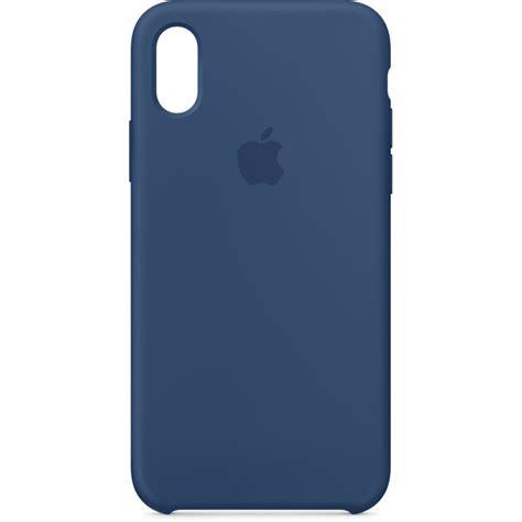 b iphone apple iphone x silicone blue cobalt mqt42zm a b h photo