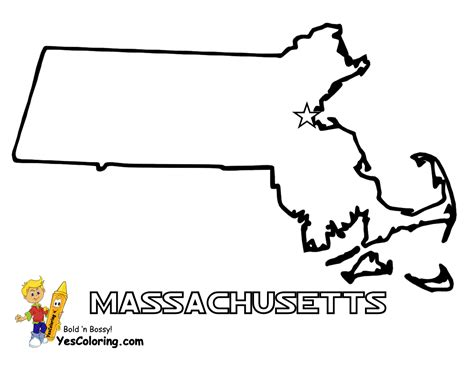 printable map massachusetts massachusetts map to print out at yescoloring com free