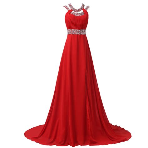 long red promotion dress crystal long red prom dresses 2017 backless evening gowns