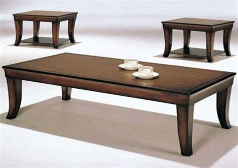 cheap end tables and coffee table sets in brown finish