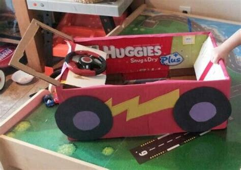 race car   diaper box  construction paper