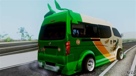 nissan urvan modification nissan nv350 urvan leonardo para gta san andreas