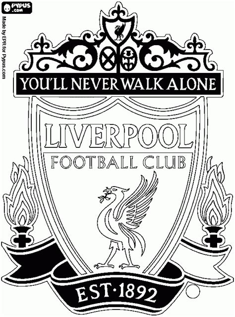 Liverpool Logo Free Coloring Pages Liverpool Colouring Pages