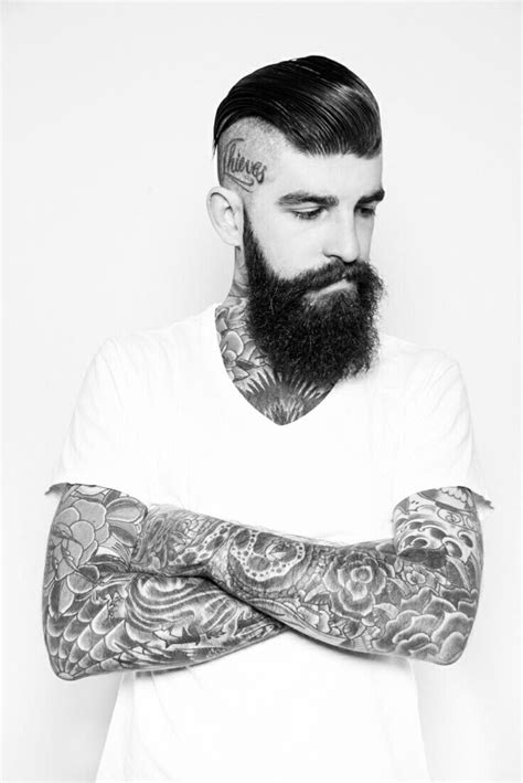 beard tattoo beards and tattoos quotes quotesgram