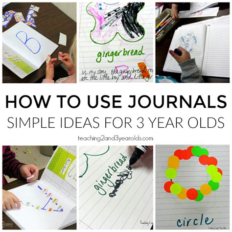 new year activities for 3 4 year olds simple journals with 3 year olds