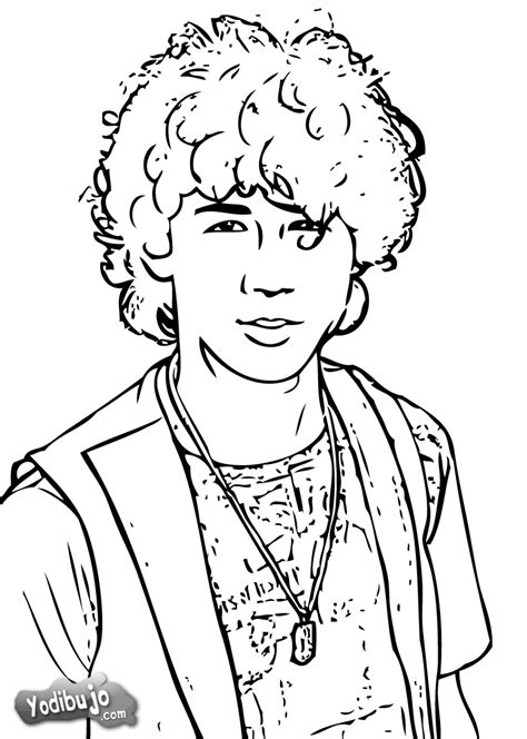 imagenes para colorear jonas dibujos para colorear nick jonas retrato es hellokids com