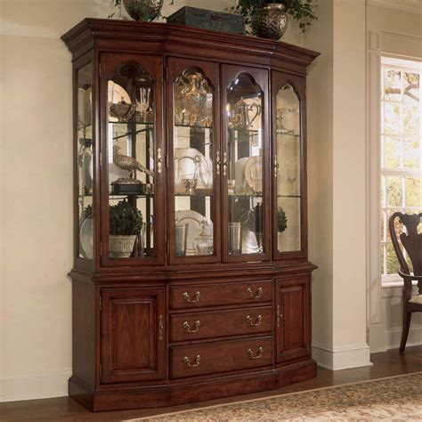 American Drew China Hutch american drew cherry grove canted china cabinet by dining rooms outlet