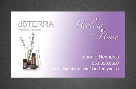 doterra business card template digital doterra business card design color by