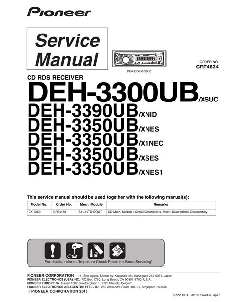 pioneer deh 3300 radio wiring diagram deh p4000ub wiring