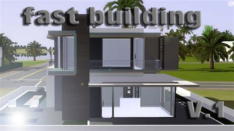 how to build a house in sims 3 sims 3 speed building small modern house v 1 ihdi youtube