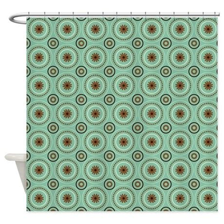 brown curtains with circles teal brown circles shower curtain by nicholsco