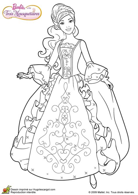 coloring pages barbie three musketeers barbie and three musketeers barbie coloring page 199