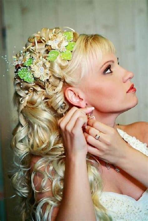 bridesmaid hairstyles down curly wedding hairstyles down curly for bride
