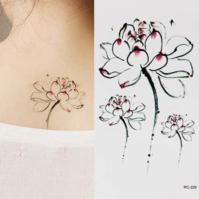 tattoo flower mural lotus flower tattoo stickers ink lotus elegant tattoo