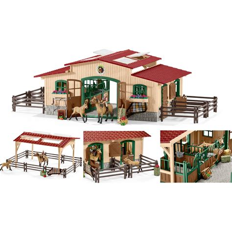 schleich stall schleich 42195 stable with horses and accessories