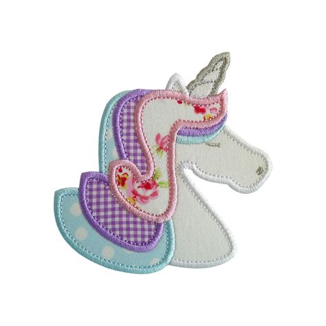 free applique unicorn applique machine embroidery designs patterns