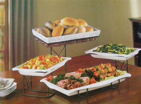4 tier buffet server 4 tier buffet server with removable plates bread basket
