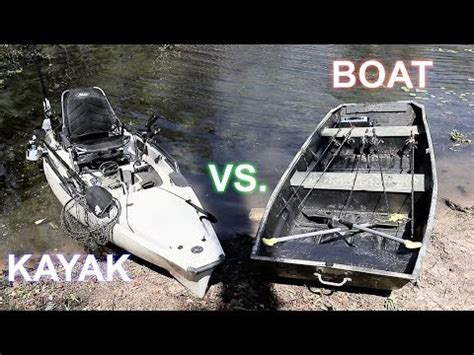 fishing boat vs kayak jon boat vs kayak fishing challenge which is best