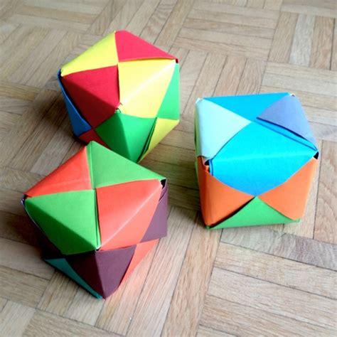 Origami Cube Sonobe - schaeresteipapier es darf gew 252 rfelt werden mit origami