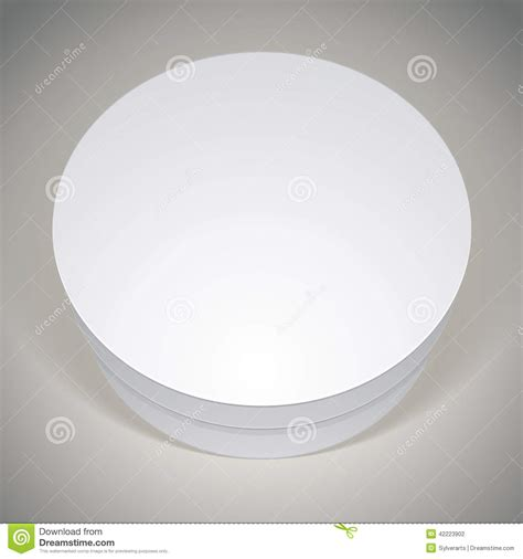 vector blank round box template for your package design