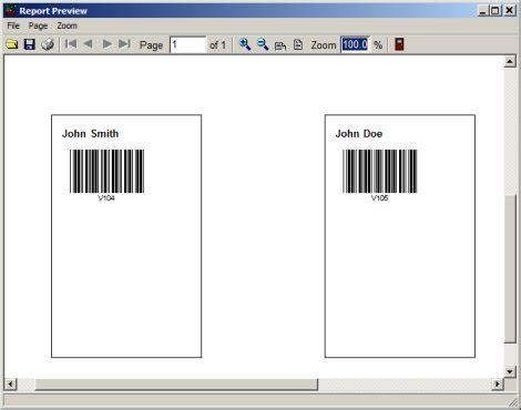Volunteer Management System Printing Labels Reports Volunteer Badge Template
