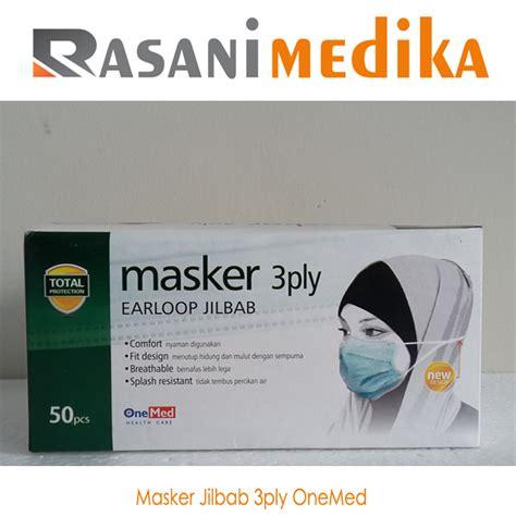 masker 3 ply jilbab onemed rasani medika