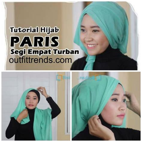 Tutorial Turban Segi Empat Simple | 10 simple hijab paris tutorials you can do less than