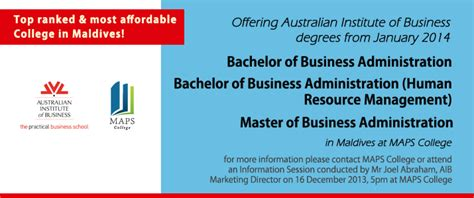 Australian Institute Of Business Mba Course Fees by Maps College Introduces The Australian Bba And Mba