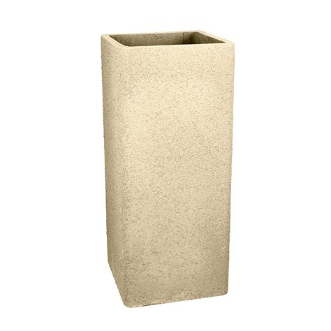 36 Inch Outdoor Planters 36 In Square Fiberclay Outdoor Planter Pot By Le