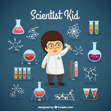 imagenes de simbolos cientificos chico cient 237 fico con objetos de laboratorio descargar