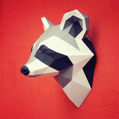 Papercraft Pdf - papercraft raccoon printable diy template by