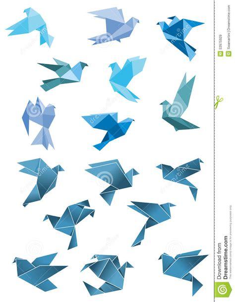 Dessin Oiseau Origami by L Origami Empaquette Les Oiseaux De Vol Bleus Stylis 233 S