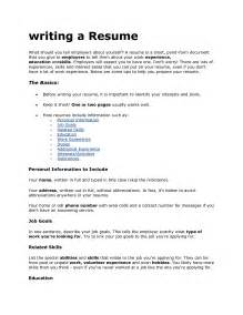 a cv resume