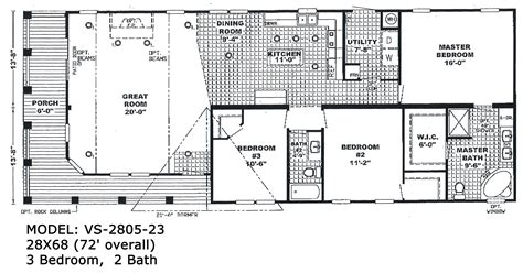 wide floor plan 2 bedroom single wide trailer floor plans