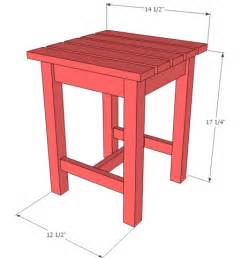 Side Table Plans by Ana White Build A Adirondack Stool Or End Table Free
