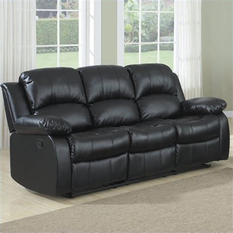 Bonded Leather Sofa Reviews by Homelegance Cranley Reclining Bonded Leather Sofa