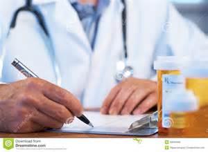 doctor writing rx prescription stock photo image 20944990