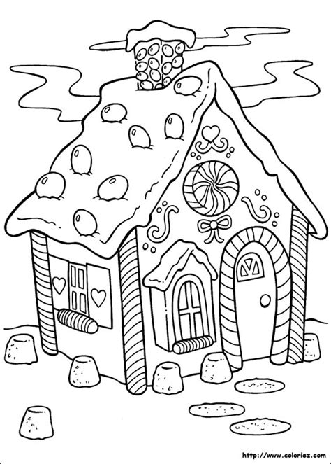 decorated house coloring pages coloriage la maison en pain d 233 pice