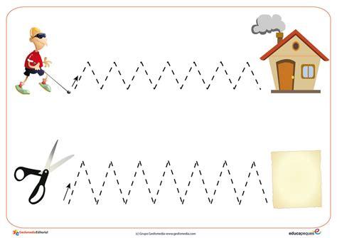 imagenes educativas para prescolar fichas de grafomotricidad trazos verticales y horizontales