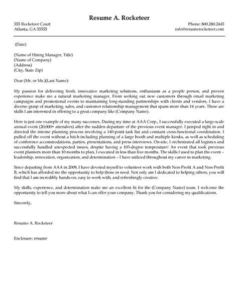 salesperson marketing cover letters resume genius