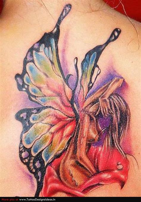 watercolor tattoo fairy watercolors colors and fairies on