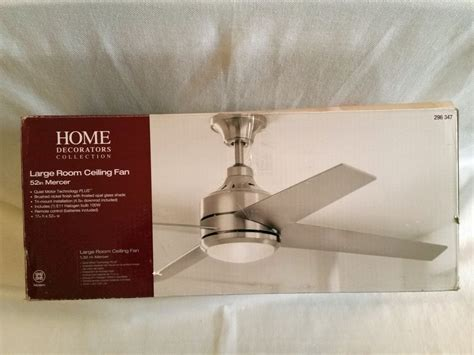 mercer 52 ceiling fan home decorators collection mercer 52 in brushed nickel