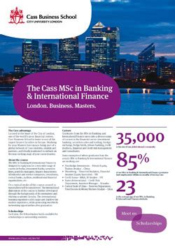 International Banking Mba by Msc Banking International Finance Masters Banking