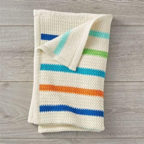 baby blanket comforter rainbow striped blanket the land of nod