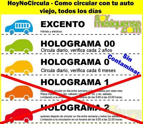 tarifas de verificacion estado de mexico tarifa verificacion estado de mexico 2016 hoynocircula