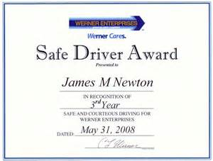 safe driving certificate template safe driver award