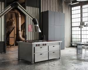 Kitchen Island Metal metal kitchen min 224 brings industrial touch to your cooking