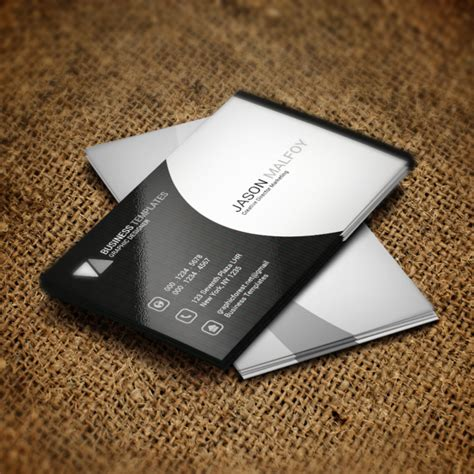 business card psd template white black and white business card psd template template for