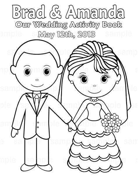 wedding coloring books printable personalized wedding coloring activity by